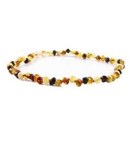 """Amber Monkey Teething Necklace - Multi 10"""""""