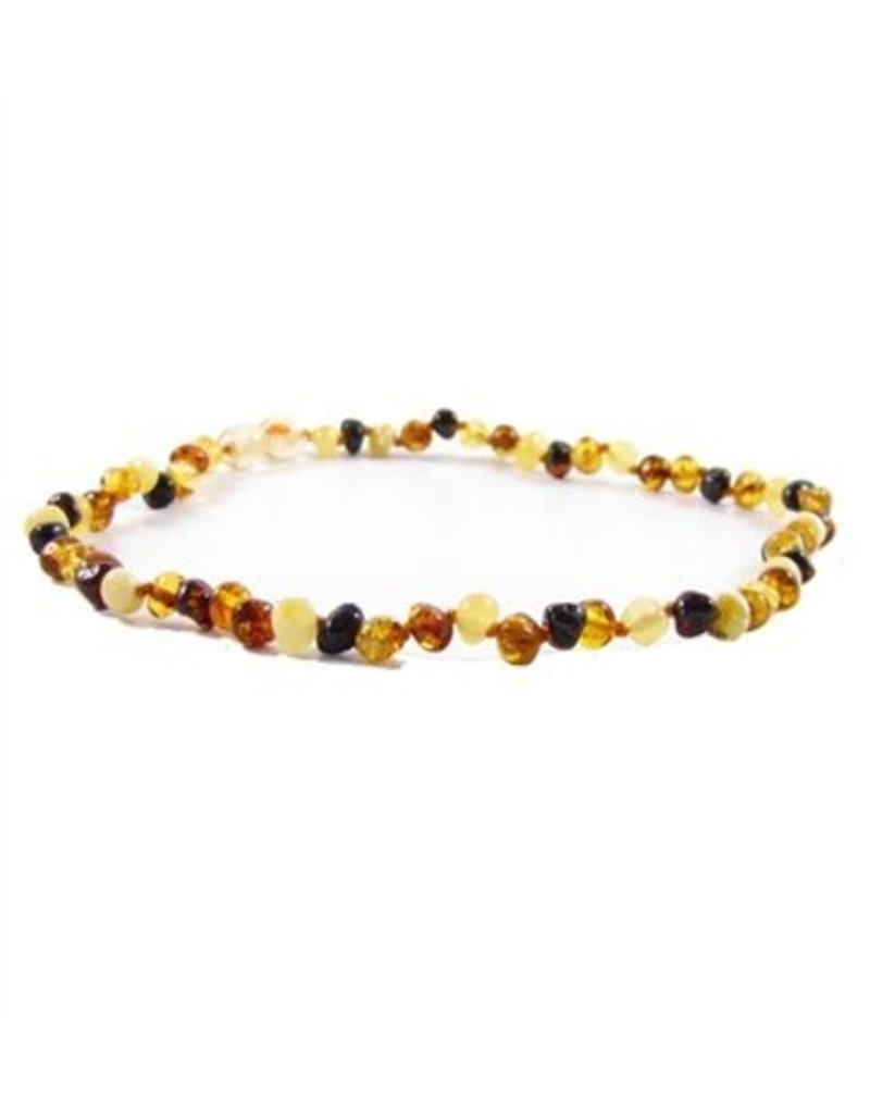 Amber Monkey Teething Necklace - Multi 10""