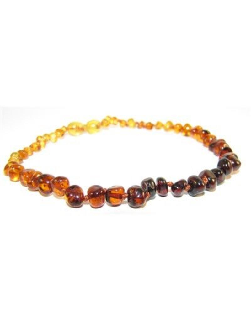 """Amber Monkey Teething Necklace - Rainbow 10"""""""