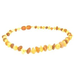 Amber Monkey Teething Necklace - R Lemon/R Cognac 10""