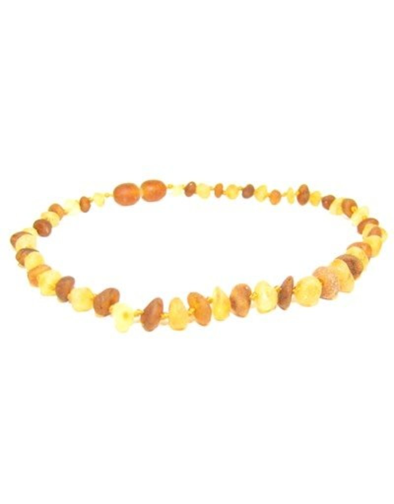 Teething Necklace - R Lemon/R Cognac 10""
