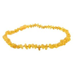 Teething Necklace - Raw Honey 10""