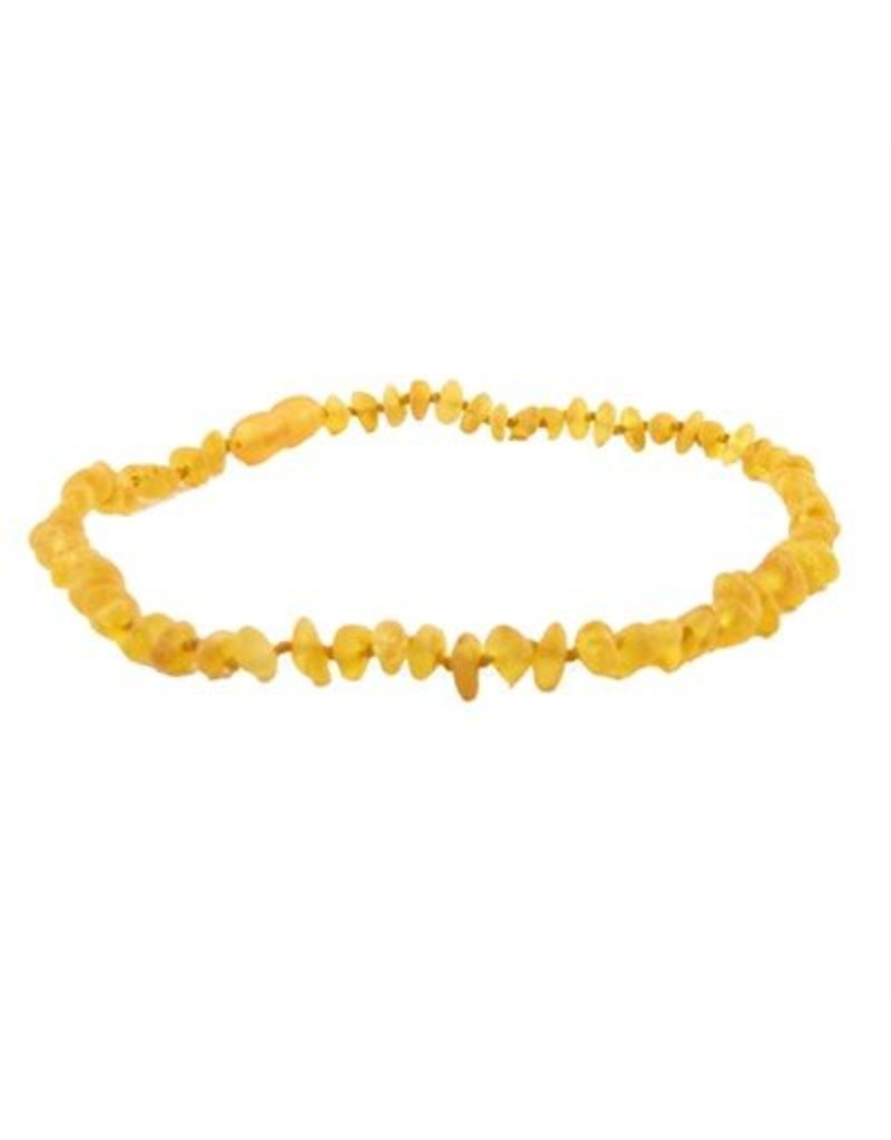 Amber Monkey Teething Necklace - Raw Honey 13""