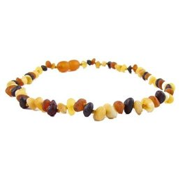 Teething Necklace - Raw Multi 10""