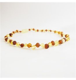 Teething Necklace - P Lemon/R Cognac 13""