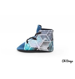 Oh Boeys Blue Galaxy Lace Up Shoes