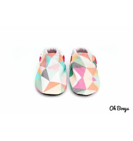 Pink Geometry Booties
