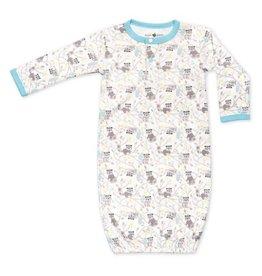 Apple Park Raccoon Boy Sleep Gown 3-6m
