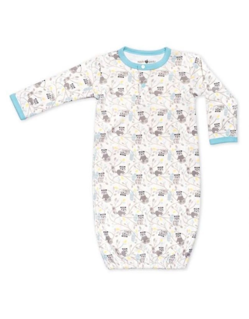 Raccoon Boy Sleep Gown 3-6m - Lily Valley Baby