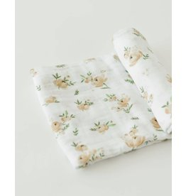Little Unicorn Cotton Swaddle - Yellow Rose