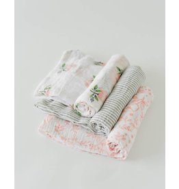 Little Unicorn Cotton Swaddle Set - Garden Rose