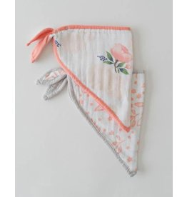 Little Unicorn Bandana Bib - Watercolor Rose