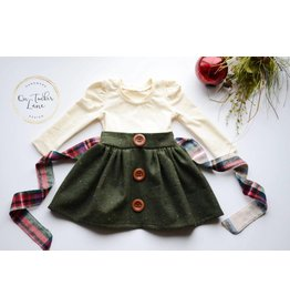 On Tucker Lane Christmas Button Dress
