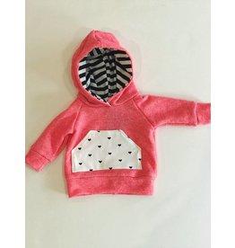 Coral + Hearts Sweatshirt