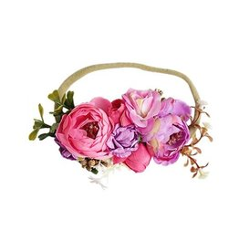 Bailey's Blossoms Floral Stretch Headband - Pink & Purple