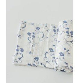 Deluxe Muslin Swaddle - Blue Porcelain