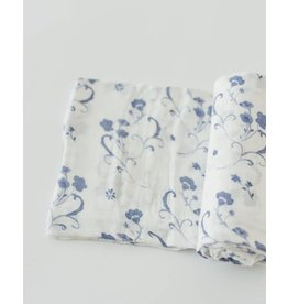 Little Unicorn Deluxe Muslin Swaddle - Blue Porcelain
