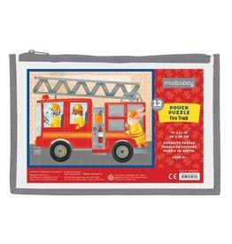Mudpuppy Puzzle Pouch - Fire Truck