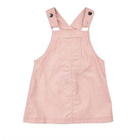 Pink Corduroy Overall Skirt