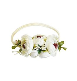Bailey's Blossoms Floral Stretch Headband - Classic Ivory