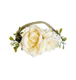 Bailey's Blossoms Floral Stretch Headband - Ivory