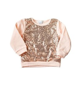 Bailey's Blossoms Sequin Sweater - Rose Gold