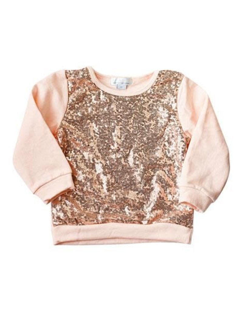 Bailey's Blossoms Sequin Sweater - Rose Gold - Lily Valley Baby