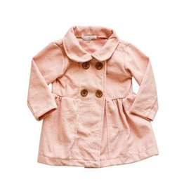 Pink Pleated Pea Coat