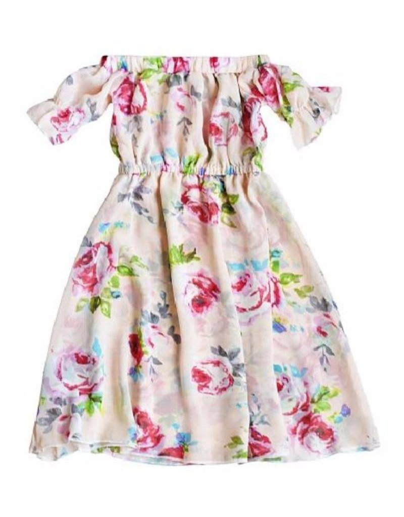 Bailey's Blossoms Kristen Cold Shoulder Maxi Dress