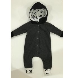 Quiver Full of Children Charcoal XOXO Romper