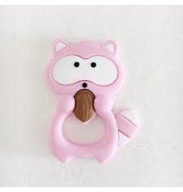 Loulou Lollipop Raccoon Teether, Pink