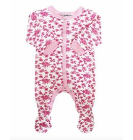 Coccoli Footed Sleeper - Pink Floral