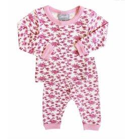 Pink Floral Pajama Set