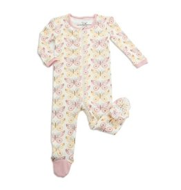 Silkberry Baby Organic Cotton Footie - Butterfly