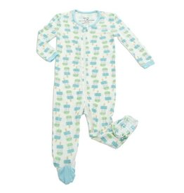 Silkberry Baby Bamboo Footie - Popsicle