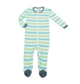 Silkberry Baby Bamboo Footie - Popsicle Stripe