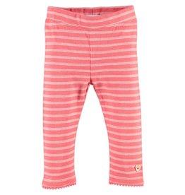 Babyface Stripe Leggings - Pink Flower