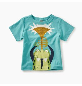 Tea Collection Jazz Frog Graphic Baby Tee