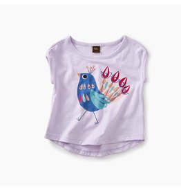 Tea Collection Peacock Graphic Baby Tee