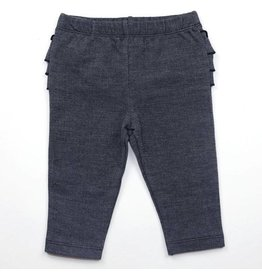 Kapital K Ruffle Butt Baby Leggings, Dark Navy