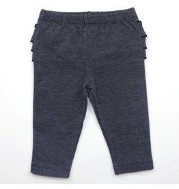 Ruffle Butt Baby Leggings, Dark Navy