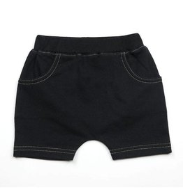 Kapital K French Terry Pull-on Shorts, Black