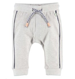 Babyface Navy Stripe Sweats, Cool Grey Melee