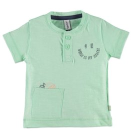 Babyface Snack Graphic Tee, Pastel Green
