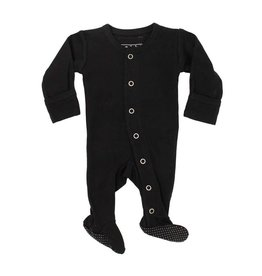 Organic Footed Sleeper, Black