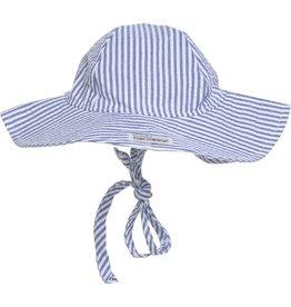 Floppy Hat - Chambray Stripe Seersucker
