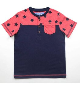 Kapital K Colorblock Henley - Stars