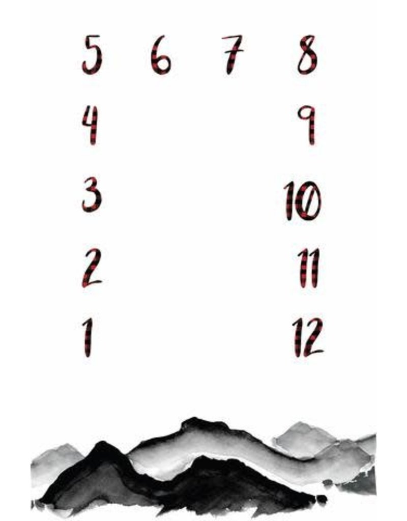 Monthly Memory Swaddle - Watercolor Mountains
