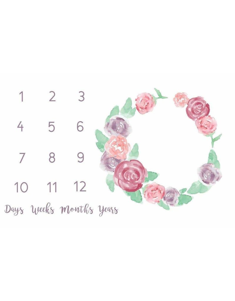 Monthly Memory Swaddle - Mauve Rose Garden