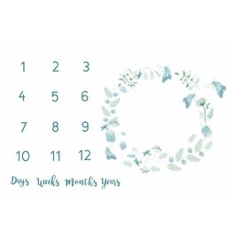 Monthly Memory Swaddle - Blue Fairy Flowers